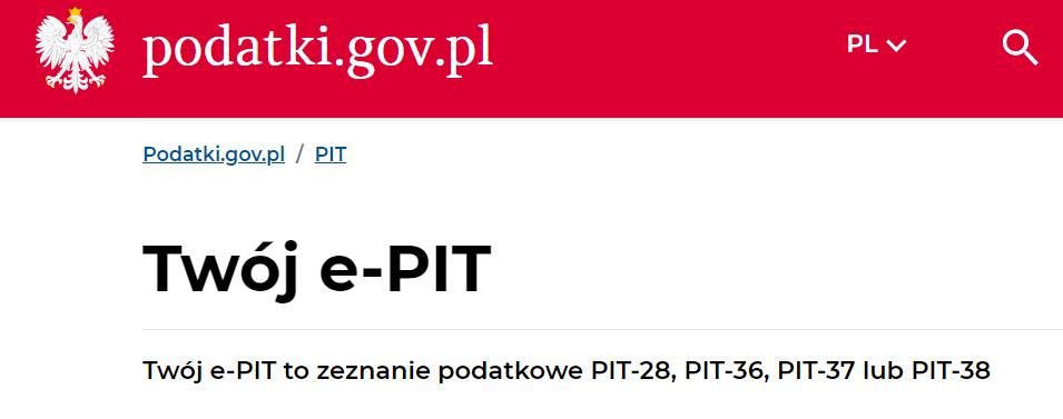 Twój e-PIT od 15 lutego