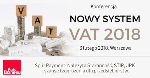 Nowy System VAT 2018. Sprawdź program wydarzenia na: konferencje.pb.pl
