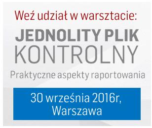 Warsztaty: JPK - praktyczne aspekty raportowania