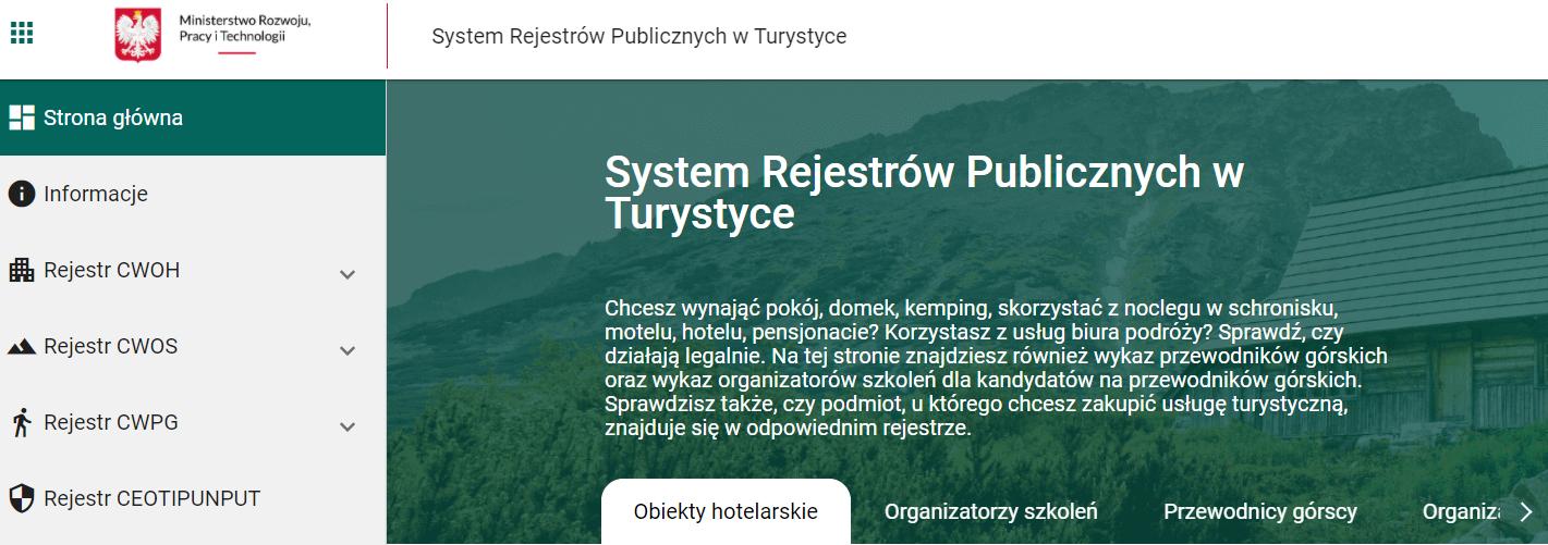 Wykaz obiektów uznających Polskie Bony Turystyczne
