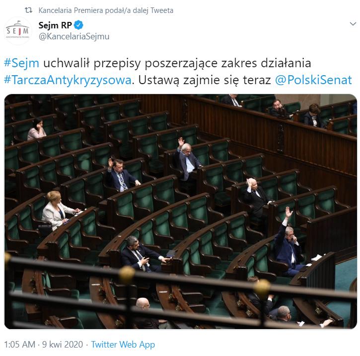 Sejm przyjął Tarczę 2.0