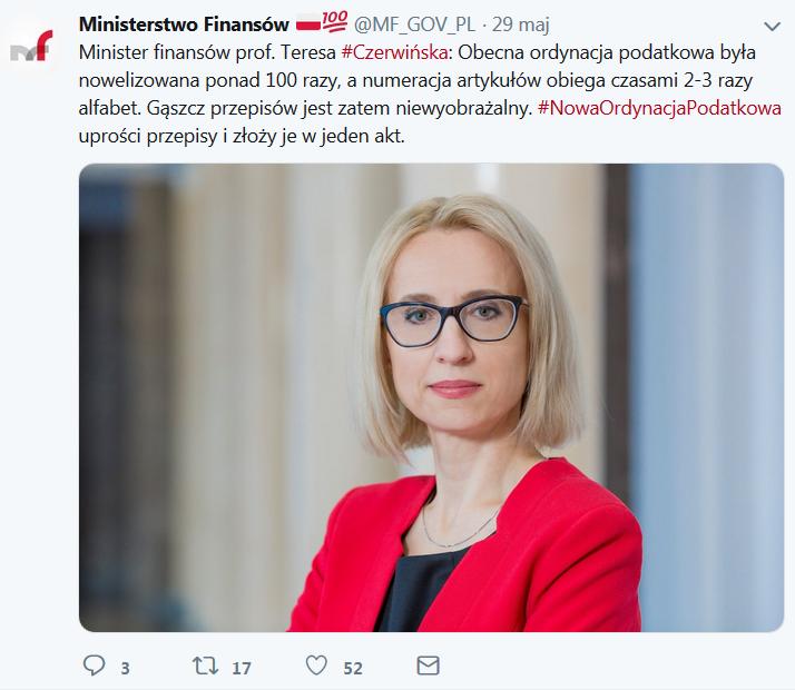 Minister Czerwińska o nowej Ordynacji Podatkowej