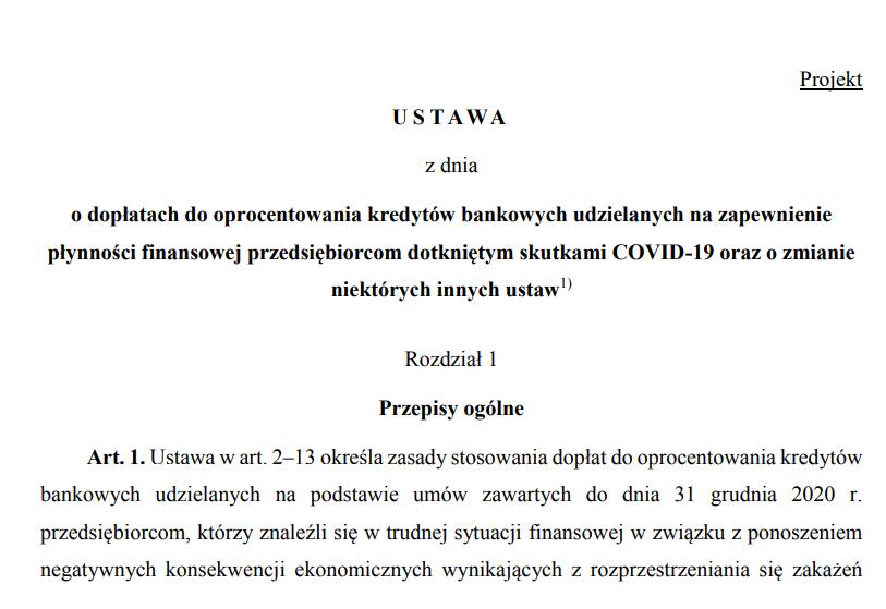 treść projektu tarcza 4.0 w Sejmie