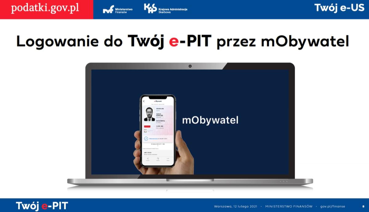 Do Twój e-PIT zalogujesz się przez mObywatel
