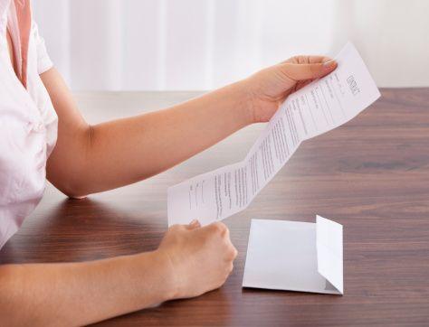 Mail lub list z urzędu skarbowego