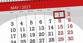Dzień wolny od pracy za sobotę 1 maja 2021 r.