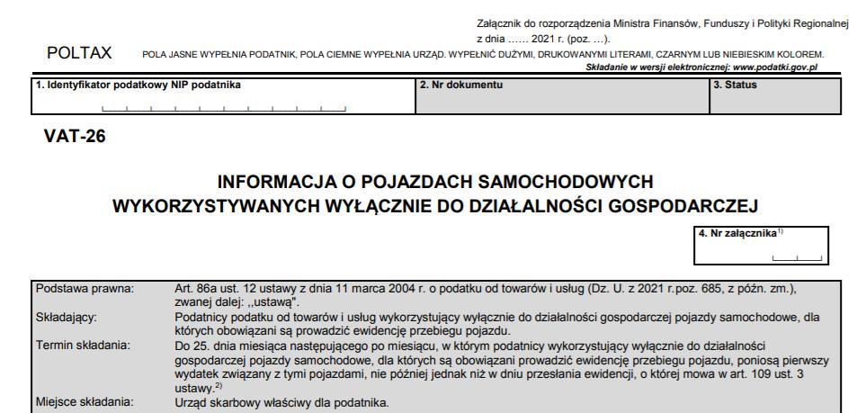 Dłuższe teminy na VAT-26 (SLIM VAT 2)