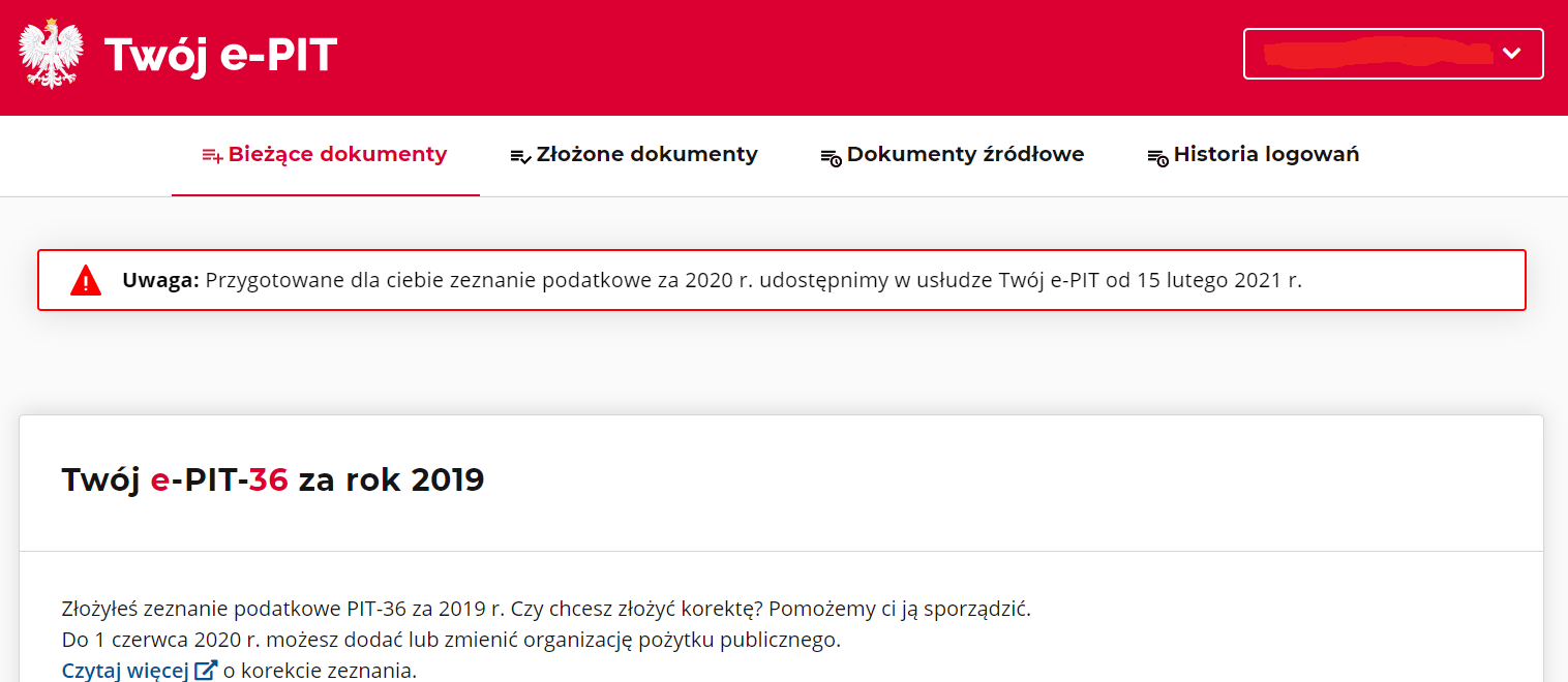 PIT 2020 w Twój e-PIT od 15 lutego 2021 roku