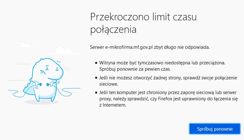 e-mikrofirma do wysyłki nowego JPK_VAT czasowo niedostępna