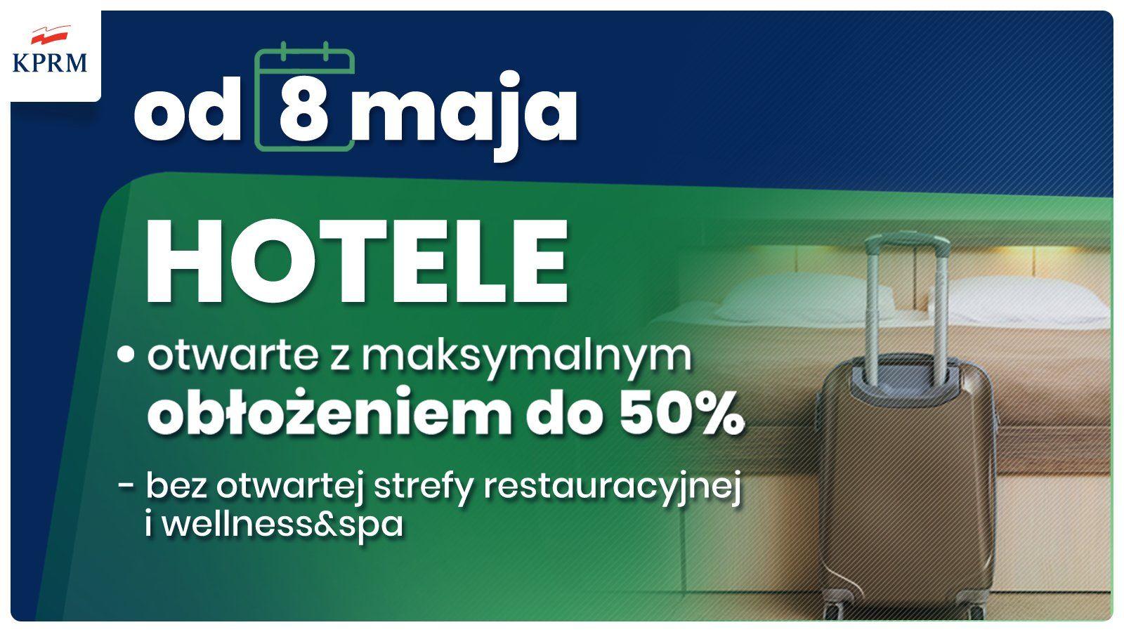 Otwarcie hoteli od maja 2021