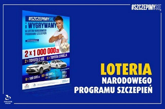 Loteria Narodowego Programu Szczepień, podatek zapłaci Totalizator Sportowy