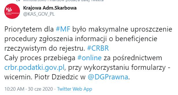 CRBR tylko elektroniczne zgłoszenia online