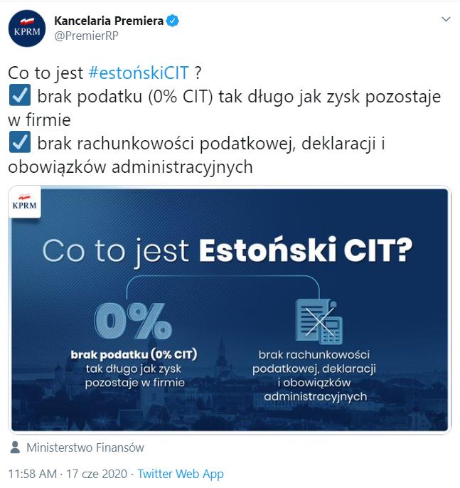 tweet estoński CIT