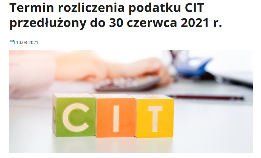 Dłuży termin na CIT-8 w 2021 roku