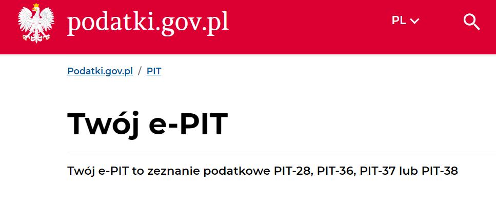 Jakie druki PIT w Twój e-PIT 2020