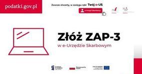 Zgłoszenie aktualizacyjne ZAP-3 złożysz przez e-Urząd Skarbowy