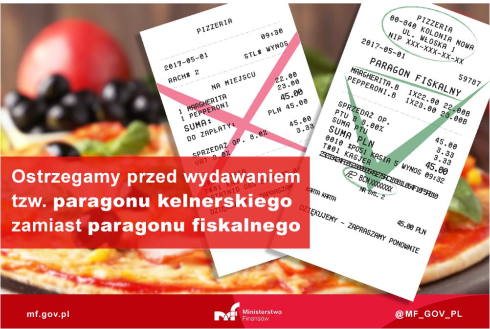Dlaczego należy wydawać paragon fiskalny, a nie kelnerski