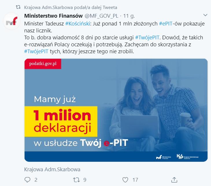 jeden milion Twój e-PIT