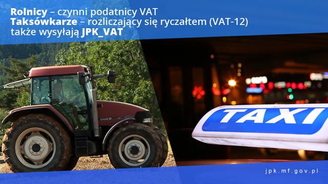 Taksówkarz i rolnik z obowiązkiem składania JPK_VAT