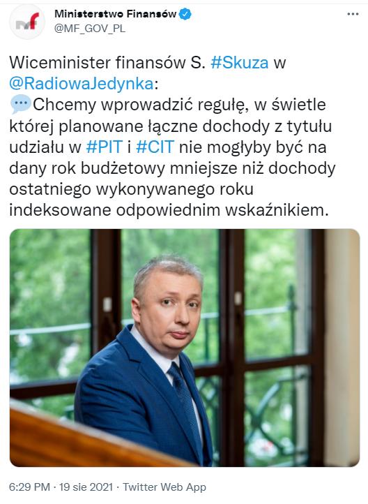 wiceminister finansów Skuza