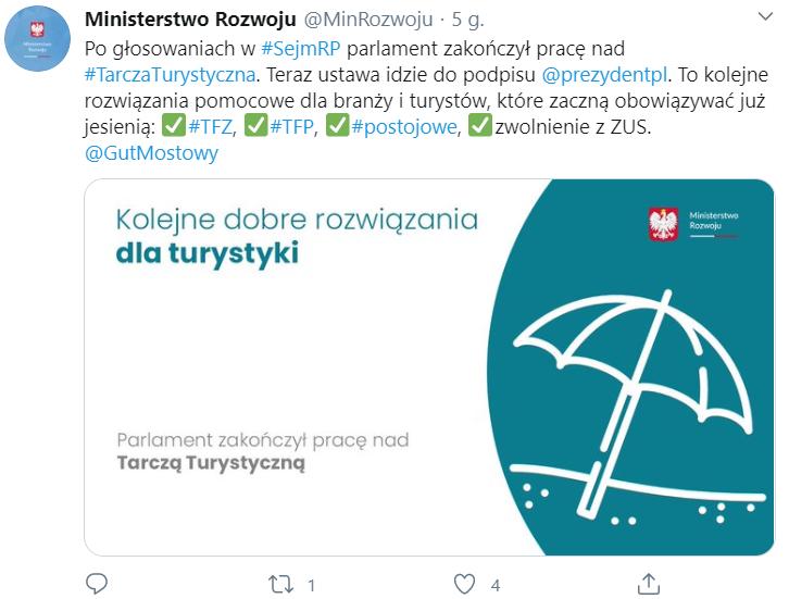 Tarcza Turystyczna uchwalona przez Sejm