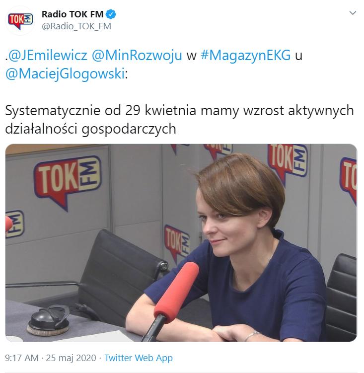 minister emilewicz w radio tokFM