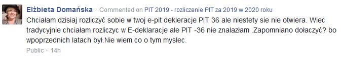 Twój e-PIT: nie można wysłać PIT-36