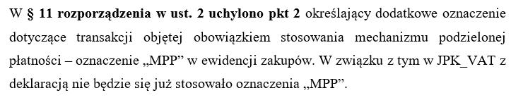 Oznaczenia MPP od 1 lipca 2021