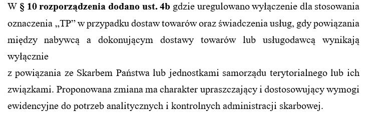 """Oznaczenia ,,TP"""" po zmianach - 1 lipiec 2021"""