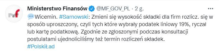 Ujednolicony termin płatności ZUS. Polski Ład