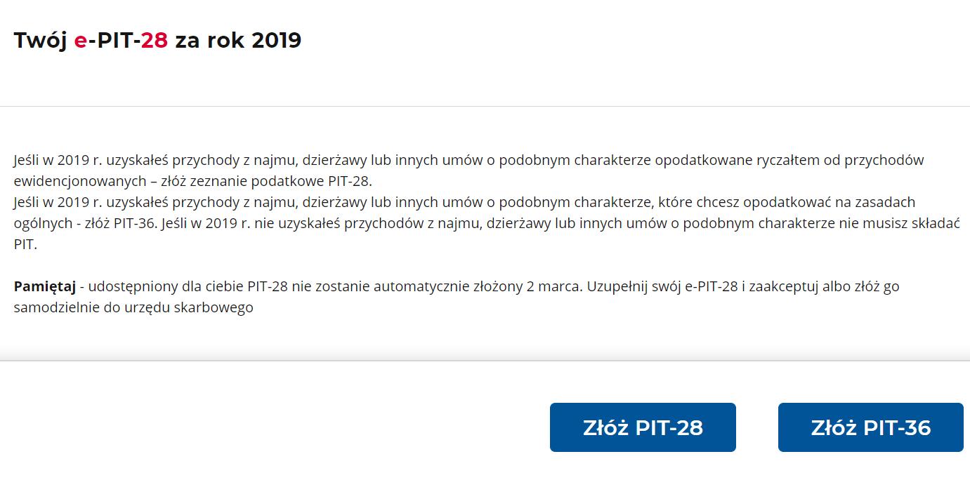 Twój e-PIT: PIT-28 nie złoży się sam