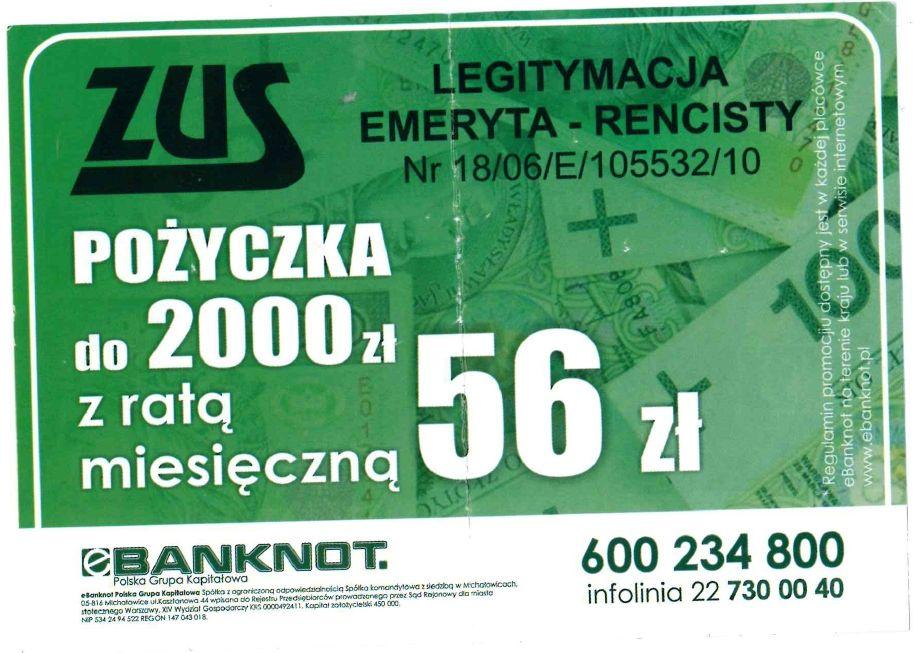 ZUS ostrzega przed nieuczciwą reklamą pożyczek z logo ZUS