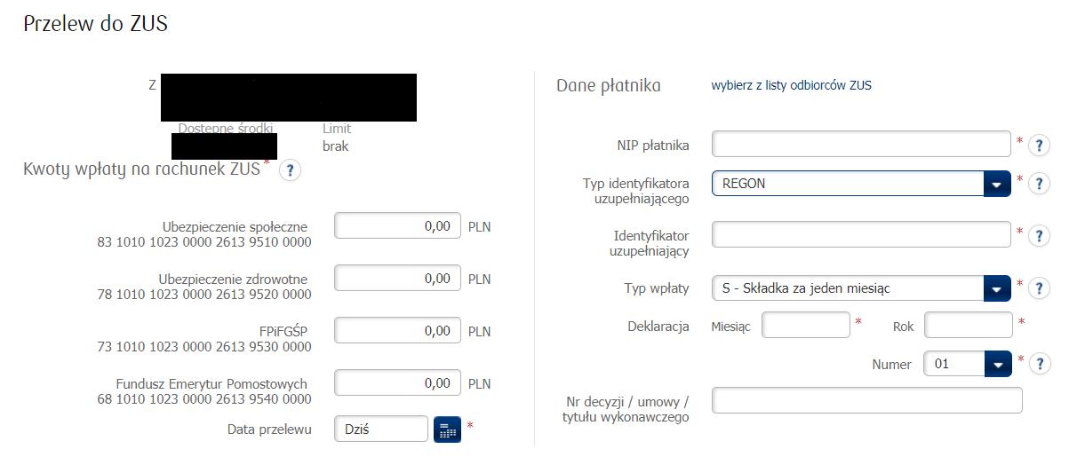 Banki informują o zmianie numeru konta do zapłaty ZUS 2018