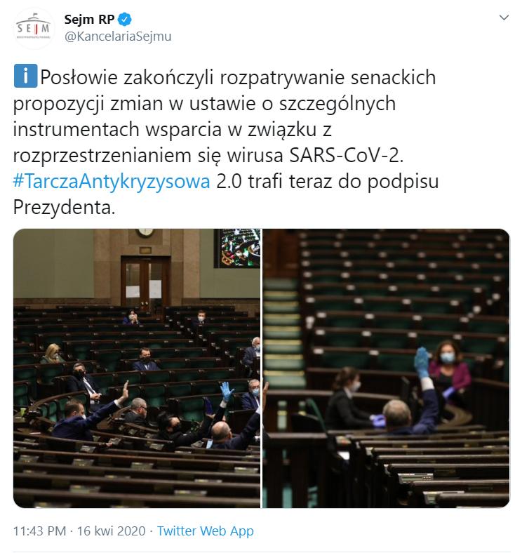 Posłowie odrzucili poprawki Senatu