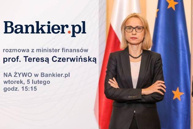 Rozmowa z minister finansów na żywo w Bankier.TV