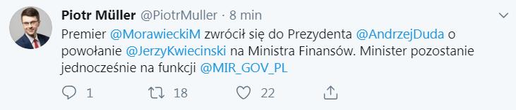 tweet rzecznika rządu
