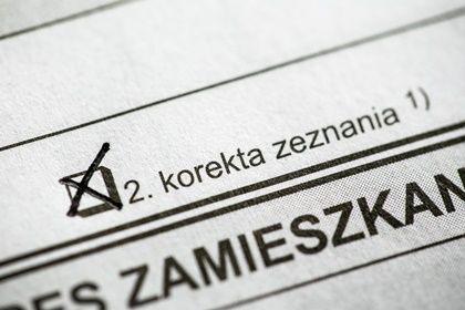 Korekta zeznania złożona zamiast deklaracji podatkowej