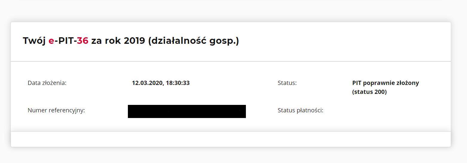 Status wysyłki w Twój e-PIT